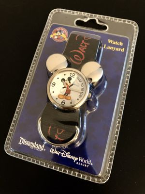 Disney Pin Trading Mickey Mouse Watch Lanyard. Original Disney Themed Parks. NEW! for Sale in Kissimmee, FL