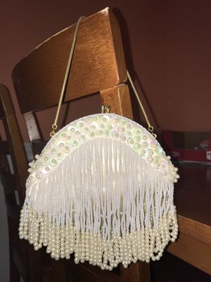 Vintage pearl bridal clutch/purse for Sale in Peoria, IL