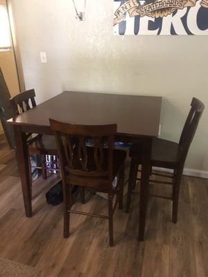 Dining Room Table + 3 Barstool Chairs for Sale in St. Petersburg, FL
