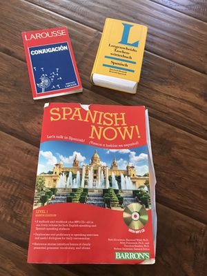 Spanish learning materials and Spanish German dictionary for Sale in Poway, CA