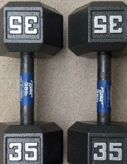 NEW 35lbs Hex Dumbbell weight set (70lbs total) ▪︎FREE DELIVERY ✅✅ ▪︎ for Sale in Hayward,  CA