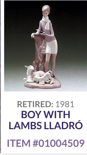 Lladro Boy with Lamb retired for Sale in Lake Zurich, IL