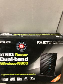 ASUS Rt N53 Router DUAL BAND Wireless N600 for Sale in Chino Hills,  CA