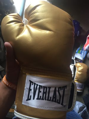 Everlast gloves and speed bag for Sale in Rancho Cucamonga, CA