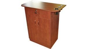 Stylist station / build in appliance holders( pear wood color ) for Sale in Atlanta, GA