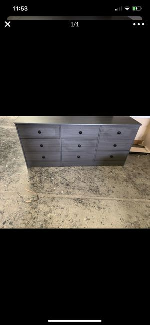 Grey 9 drawer dresser for Sale in Los Angeles, CA