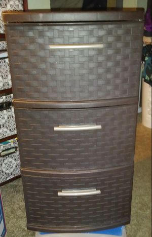 Dark Brown Basket Weave 3 Drawer Storage Container for Sale in San Jose, CA