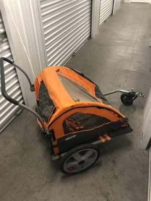 Instep Quick N EZ double bike trailer and stroller for Sale in Las Vegas, NV