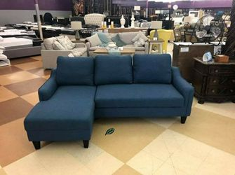 🍂🍃$39 Down Payment 🍂🍃 Jarreau Blue Sofa Chaise Sleeper for Sale in Beltsville,  MD