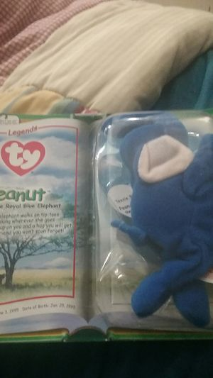 In box never opened rare beanie baby peanut royal blue for Sale in Conway, KS