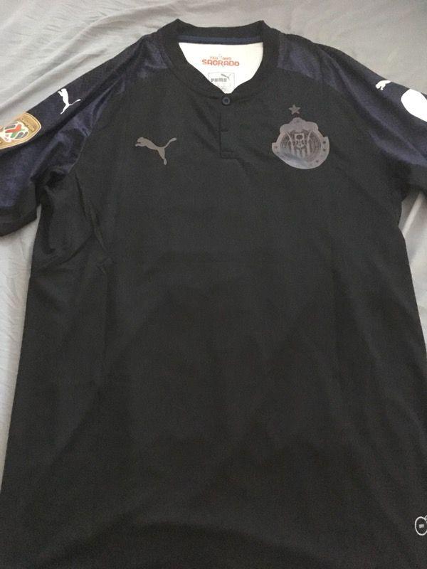 6ddc46ba461 2017 2018 Chivas De Guadalajara Black Alan Pulido Puma Soccer Jersey ...