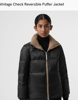 Burberry REVERSIBLE Vintage Puffer Jacket for Sale in Imperial, PA