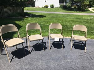 4 hardly used metal chairs for Sale in Ashburn, VA