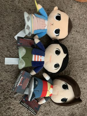 Stranger Things plushies for Sale in Los Angeles, CA