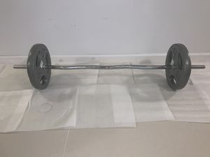 Standard 1' EZ Curl Bar + 2 Collars + 25 lbs + 10 LBS 1' Standard Plates. Everything Brand NEW With Tags. for Sale in Queens, NY