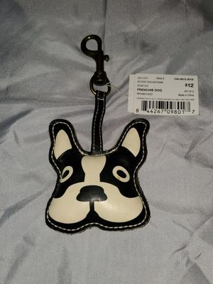 NWT, SUPER CUTE FRENCH BULL DOG. BOSTON TERRIER, OR BOXER LEATHER CLIP ON DECORATION for Sale in Long Beach, CA