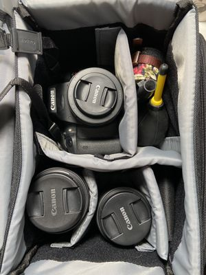 Canon T6i Rebel- 3 lenses and case for Sale in Bay Lake, FL