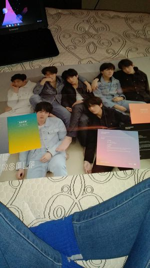 BTS CD'S and picture book with poster for Sale in Benton City, WA