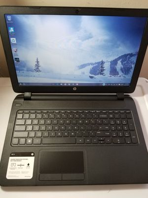HP Laptop, 15.6-inch, Model 15-f337wm, Touchscreen Computer, AMD A8-6410 (4GB Ram 500GB HDD) Win 10 for Sale in Brooklyn, NY