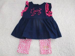 toddler 18mos juicy couture 2 pc ensemble vday heart print girl for Sale in Mission Viejo, CA
