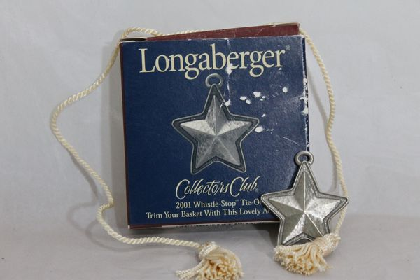 Longaberger 2001 Whistle-Stop Tie On Charm
