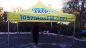 Yellow 10 x 10 ft Omni Foldable Canopy Tent Professional Aluminum Frame for Sale in Spring Valley, CA