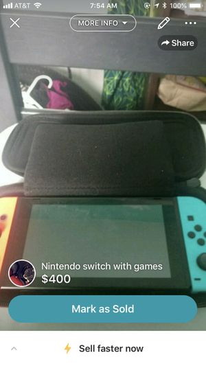 Nintendo switch with games for Sale in Metamora, IL