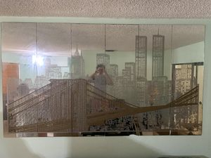 Antique large city mirror wall art for Sale in Hialeah, FL