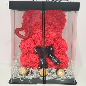 bear of roses with decoration and chocolates. ideal for valentine's day❤ Box measurements are: length 10 in, width 10 in and height 13 in. for Sale in Los Angeles, CA