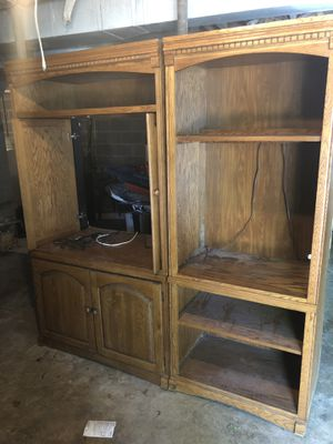 Entertainment center and side by side bookshelves for Sale in Kernersville, NC