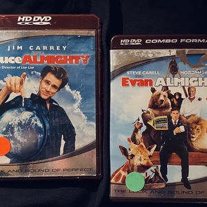 2 HD DVD MOVIE SET: Includes Bruce Almighty (HD-DVD) & Evan Almighty (in HD AND SD) for Sale in Mansfield, TX