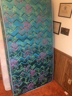 Twin bed box spring/mattress/frame for Sale in Cedar Rapids,  IA