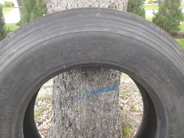 Tires 280/75R24.5