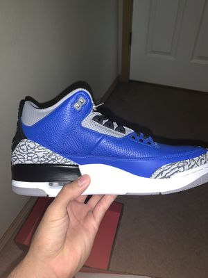 Retro Jordan 3's Varsity Royal Cement for Sale in Puyallup, WA