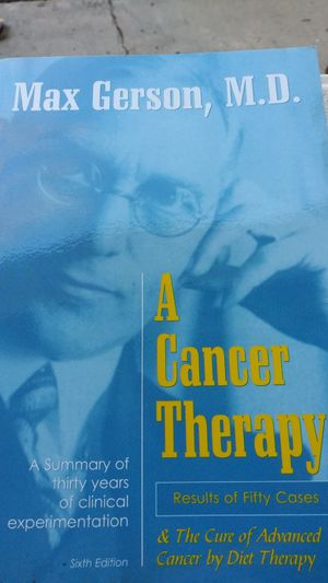Book about Cancer Therapy by: Max Gerson, M.D. for Sale in Clermont, FL