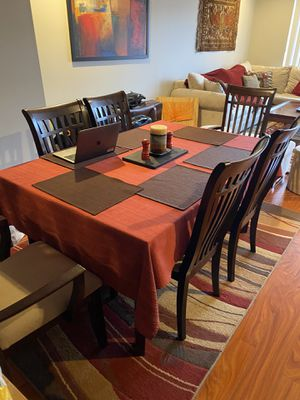 Dining table + six chairs for Sale in Boston, MA