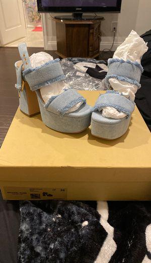 Michael Kors jacinda runway denim shoes for Sale in Temple City, CA