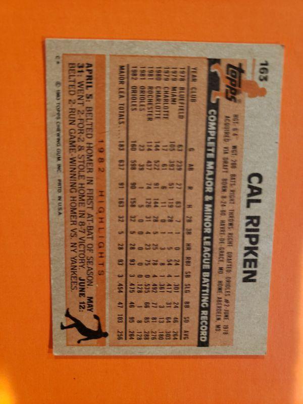 Cal Ripken Topps 1983 card #163