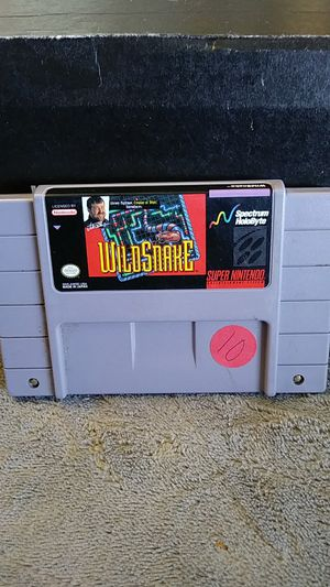 Super Nintendo SNES wild snake read description for Sale in Victorville, CA