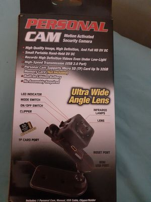 PERSONAL CAM MOTION ACTIVATED SECURITY CAMERA for Sale in Pawtucket, RI