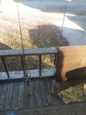 I got 2 fishing poles 1 has the string the other doesnt ( 20$ for the one With strings ) (15$ for no string ) for Sale in Wichita, KS