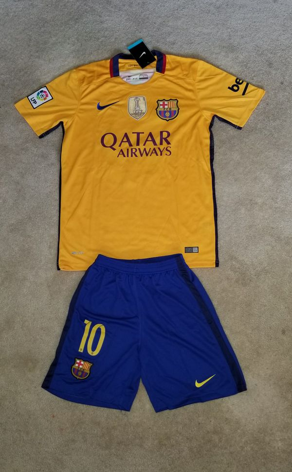 timeless design afc43 3eb1d Messi Barcelona away Jersey 2016-17 with short on sales! for Sale in  Charlotte, NC - OfferUp