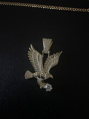 Eagle pedant and a 20 inch micro Cuban chain GOLD PLATED for Sale in Los Angeles, CA