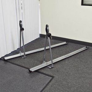New in box SET OF 2 upright cross bar mount bike bicycle carrier aluminum rack with lock 33 lb load barring capacity for Sale in Whittier, CA