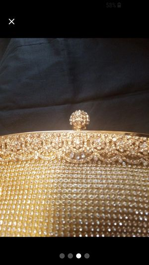 Golden purse with chain for Sale in Winston-Salem, NC