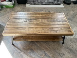 Reclaimed Coffee Table with Bottom Shelf for Sale in North Hollywood, CA
