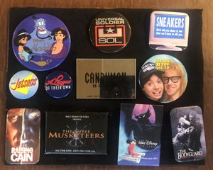Movie Theater Pins Buttons. Disney, Waynes World, for Sale in Affton, MO