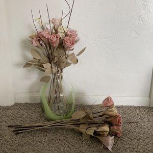 West Elm Faux Flowers & Vase for Sale in San Diego, CA