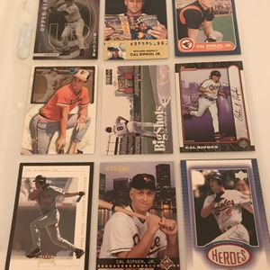 Entire collection of Cal Ripken Jr. baseball cards — 70+ for Sale in Arlington, VA