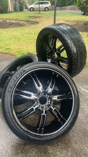 24' universal truck rims with tires for Sale in Tacoma, WA
